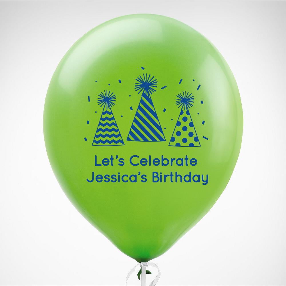 Personalized Happy Birthday Latex Balloon Image 1