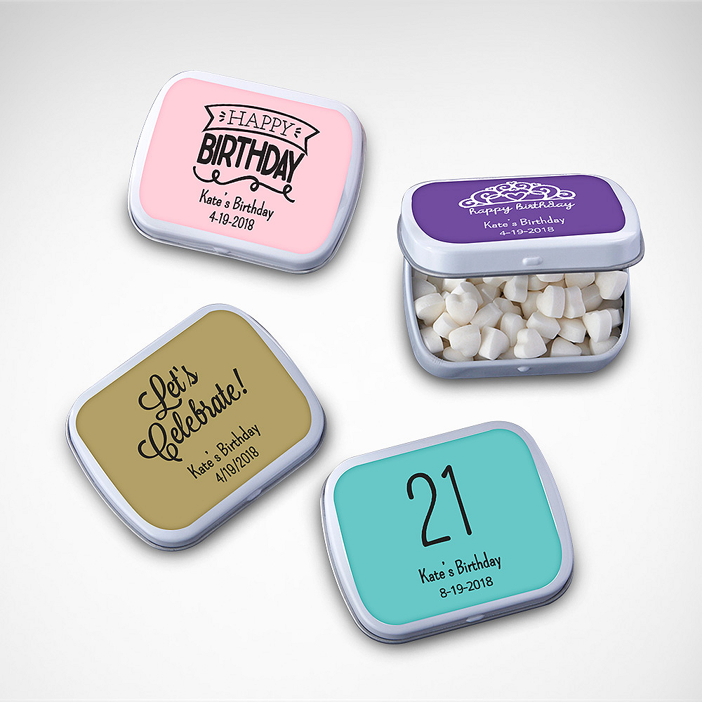 Personalized Mint Tins with Candy (Printed Label) Image #1
