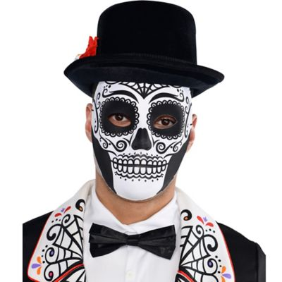 Day Of The Dead Face Mask Party City