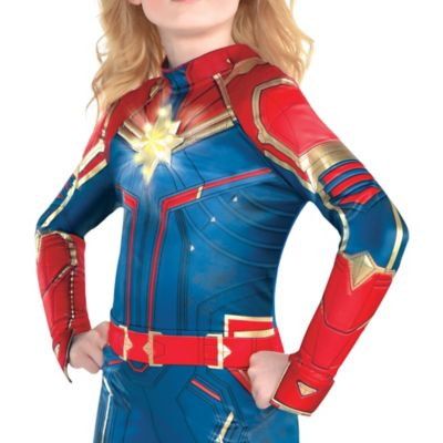 Child Light Up Captain Marvel Costume Captain Marvel Party City Deluxe captain marvel hero suit child costume even with my back against the wall—i don't give up! carol denvers aka captain america will never stop fighting for whats right and noble. child light up captain marvel costume captain marvel