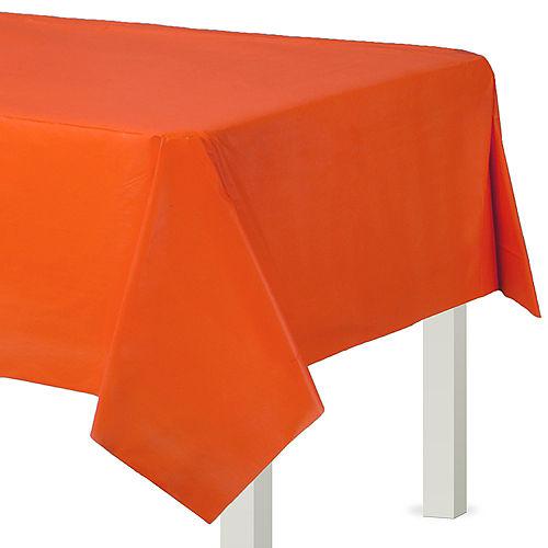Orange Plastic Table Cover Image #1