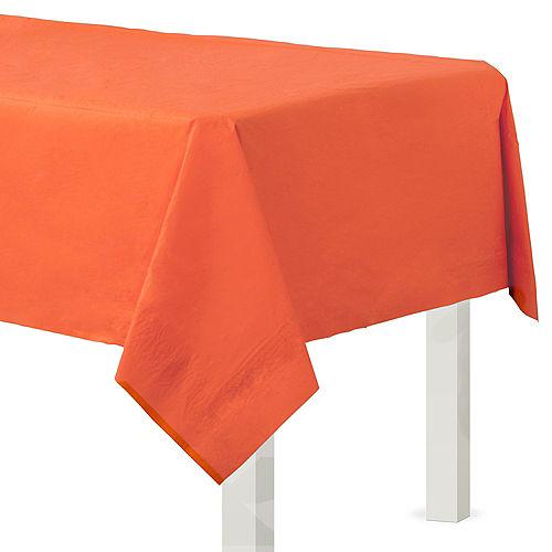 Orange Paper Table Cover Image #1