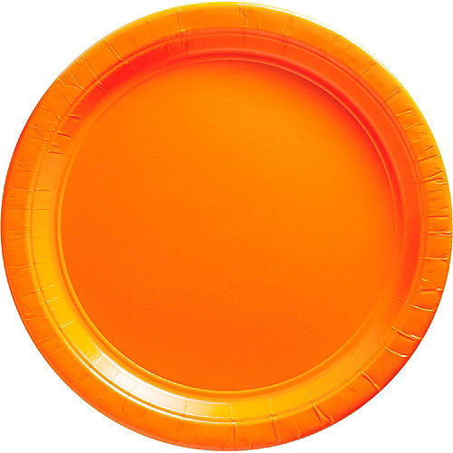 Orange Paper Dinner Plates, 10in, 20ct Image #1