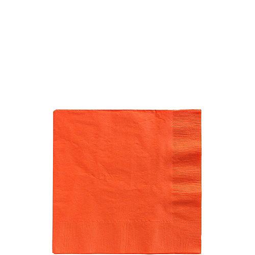 Orange Paper Beverage Napkins, 5in, 40ct Image #1