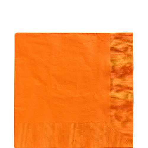 Orange Paper Lunch Napkins, 6.5in, 40ct Image #1