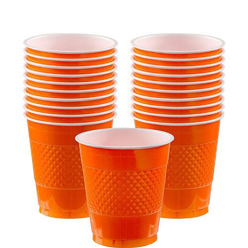 Orange Plastic Cups 20ct Image #1