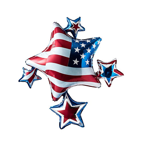 Patriotic Star Cluster Balloon, 35in Image #1