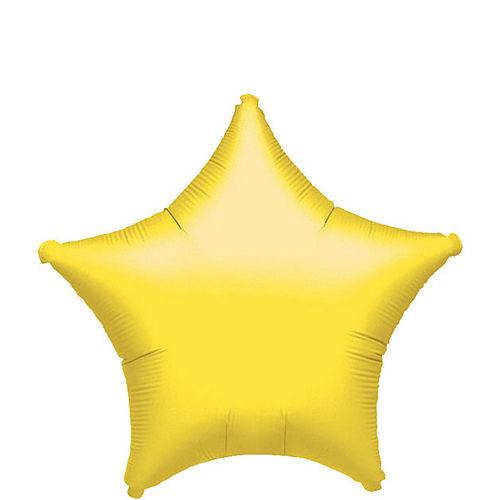 Yellow Star Balloon, 19in Image #1