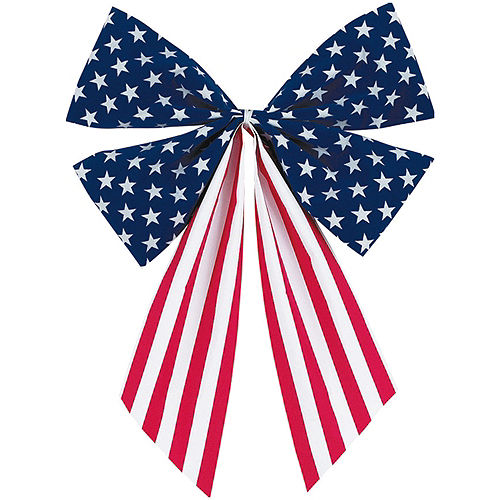 Medium Patriotic American Flag Bow Image #1