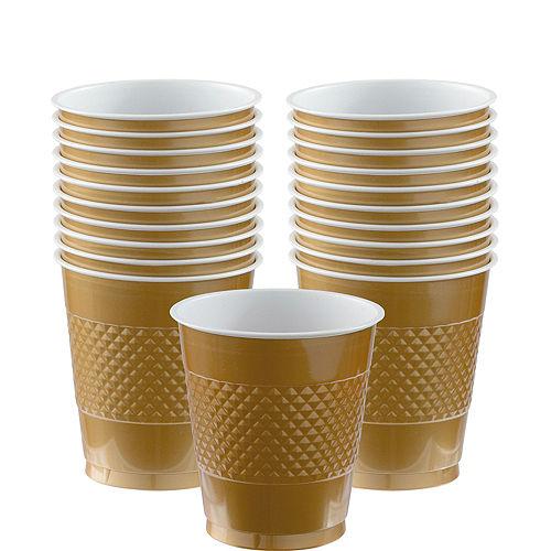 Gold Plastic Cups 20ct Image #1