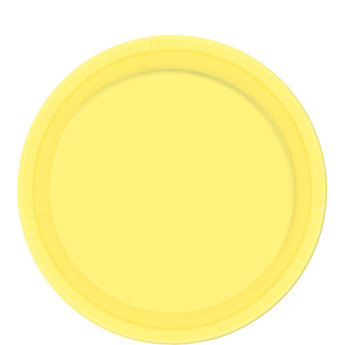 Light Yellow Paper Lunch Plates 20ct Image #1