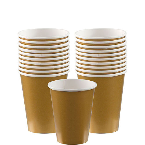 Gold Paper Cups 20ct Image #1