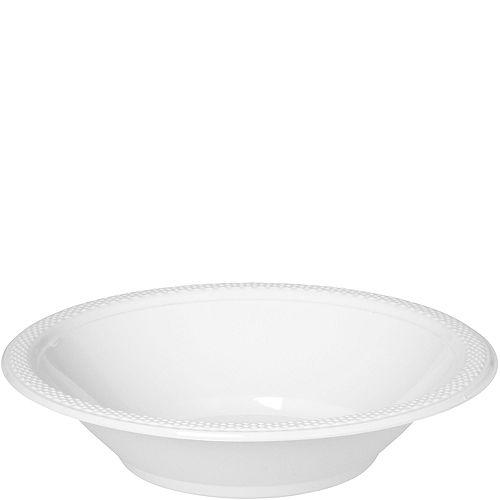White Plastic Bowls 20ct Image #1