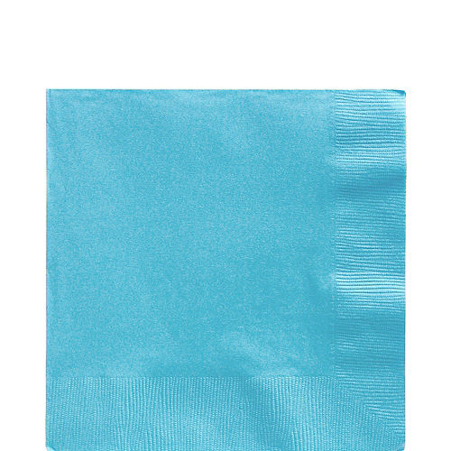 Caribbean Blue Paper Lunch Napkins, 6.5in, 40ct Image #1