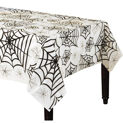 Spider Web Clear Plastic Table Cover Image #1