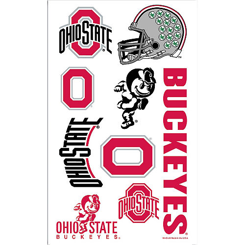 Ohio State Buckeyes Tattoos 9ct Image #1