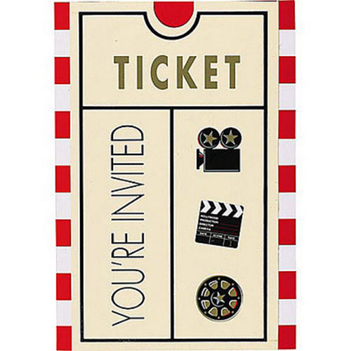 Clapboard Hollywood Invitations 8ct Image #1