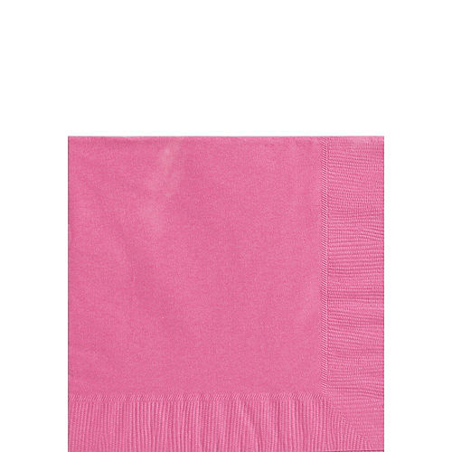 Bright Pink Paper Beverage Napkins, 5in, 40ct Image #1