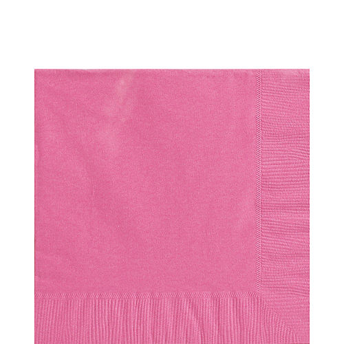 Bright Pink Lunch Napkins 50ct Image #1
