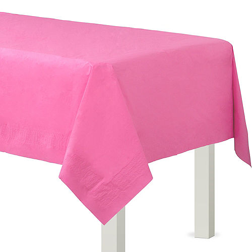 Bright Pink Paper Table Cover Image #1