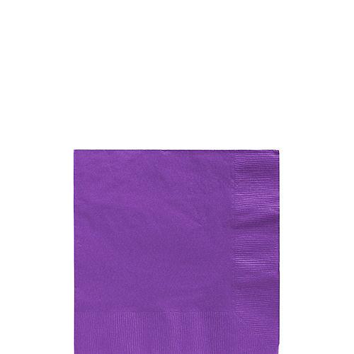 Purple Paper Beverage Napkins, 5in, 40ct Image #1
