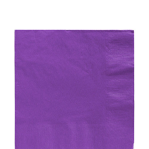 Purple Paper Lunch Napkins, 6.5in, 40ct Image #1