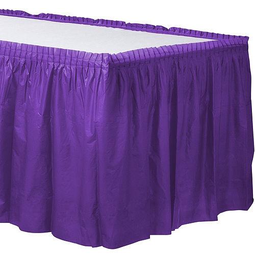 Purple Plastic Table Skirt Image #1