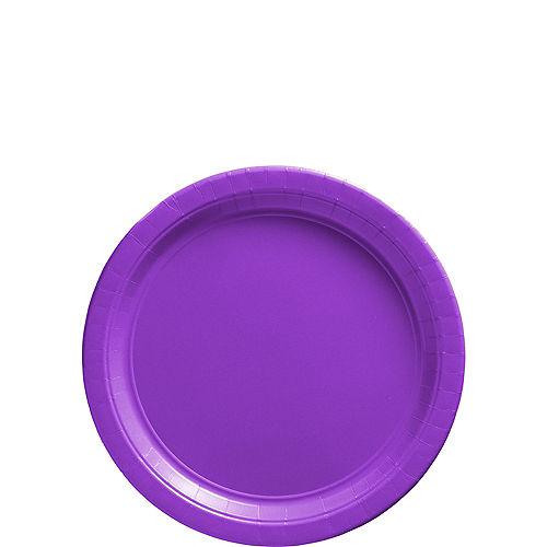 Purple Paper Dessert Plates, 6.75in, 20ct Image #1