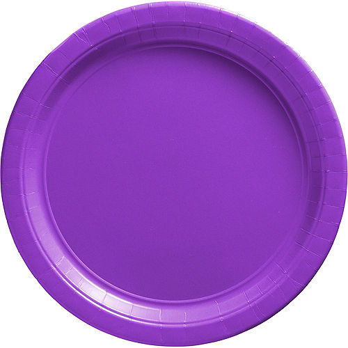 Purple Paper Dinner Plates, 10in, 20ct Image #1