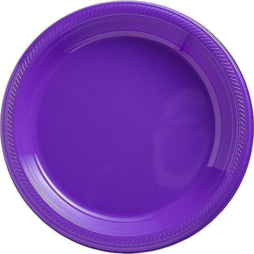 Purple Plastic Dinner Plates 20ct Image #1