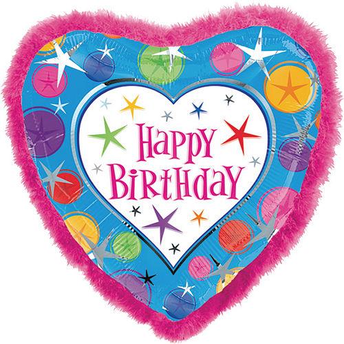 Boa Heart Happy Birthday Balloon Image #1