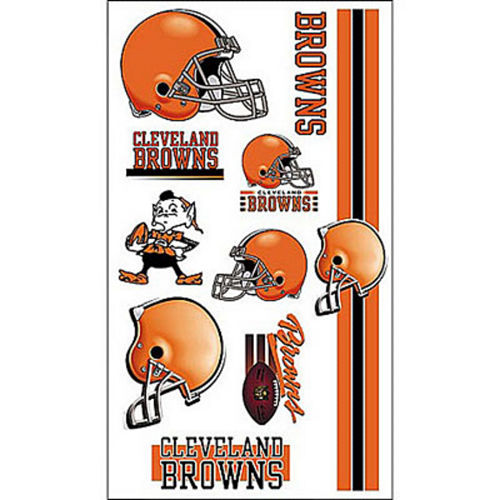 Cleveland Browns Tattoos 10ct Image #1