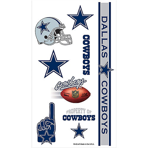 Dallas Cowboys Tattoos 7ct Image #1