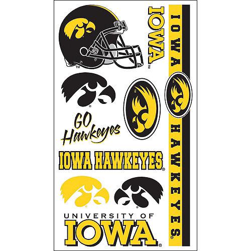 Iowa Hawkeyes Tattoos 10ct Image #1