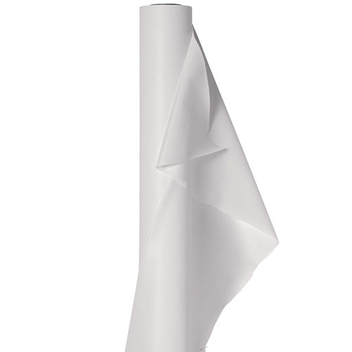 Extra-Long White Plastic Table Cover Roll, 40in x 250ft Image #1