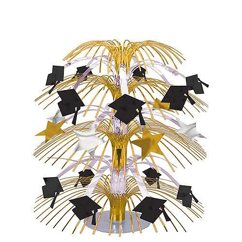 Black, Gold & Silver Graduation Cascade Centerpiece Image #1