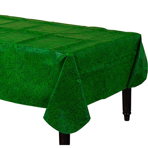 Grass Print Flannel-Backed Vinyl Table Cover Image #1