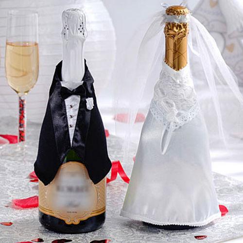 Wedding Celebration Champagne Bottle Covers 3pc Image #1