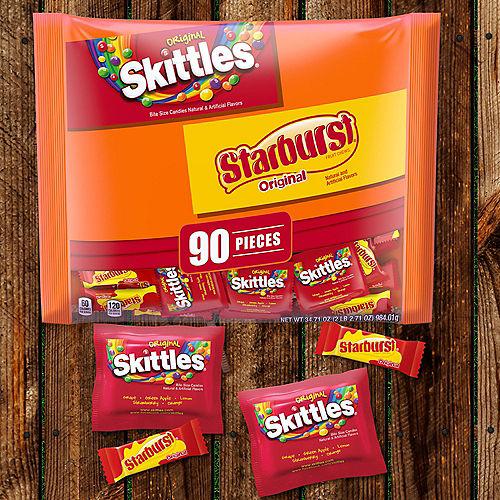 Skittles & Starburst Fun Size Variety Mix 90ct Image #2