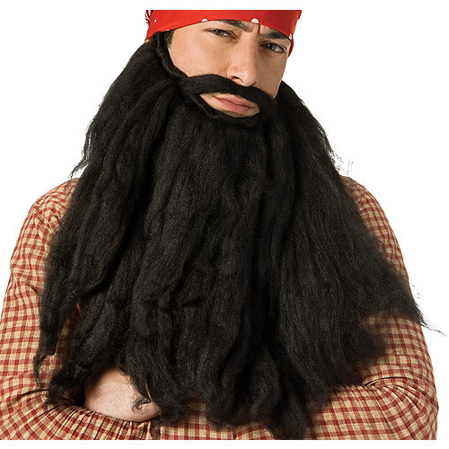 Long Black Pirate Beard Image #1