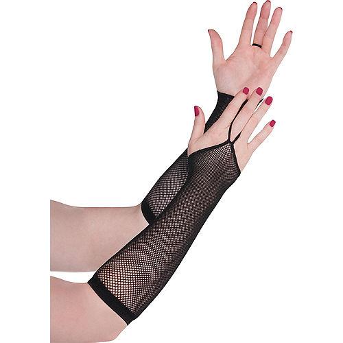 Black Fishnet Arm Warmers Image #1