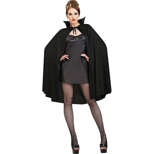 Adult Black Cape Deluxe Image #2