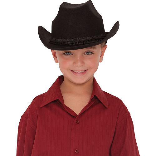 Child Black Cowboy Hat Image #2