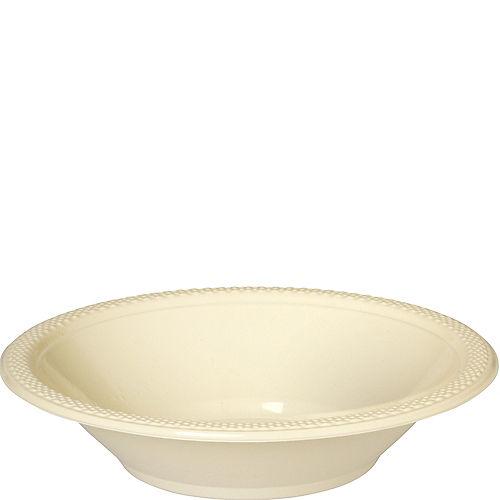 Vanilla Cream Plastic Bowls 20ct Image #1