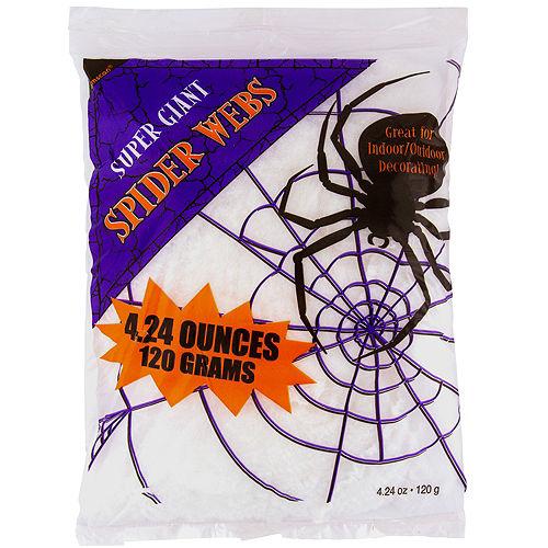 White Stretch Spider Web Image #1