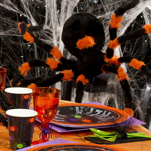 White Stretch Spider Web Image #3