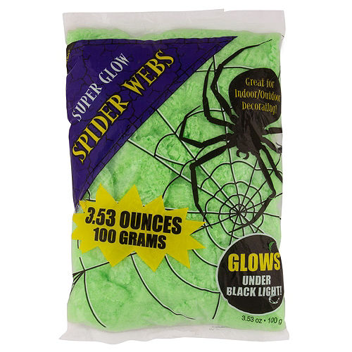 Black Light Stretch Spider Web Image #1