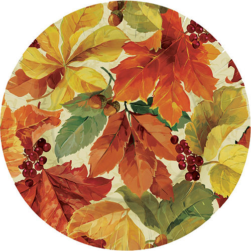 Elegant Leaves Dessert Plates 8ct Image #1