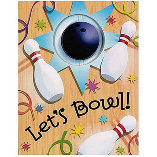 Let's Bowl Invitations 8ct Image #1