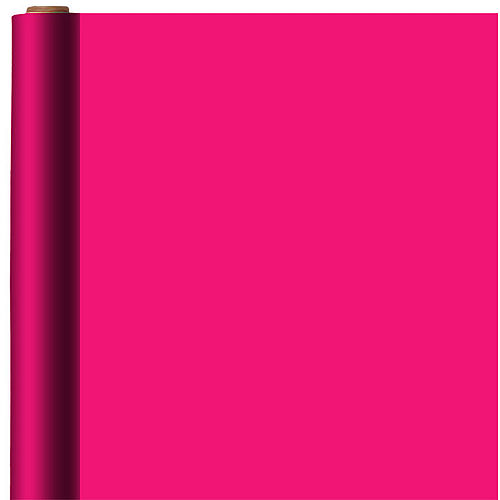 Jumbo Solid Bright Pink Gift Wrap Image #1